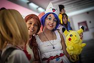 Cosplay de la comiquita POKEMON en la Convencion Avalancha de Venezuela que reune a otakus, cosplayers, fanaticos de la ciencia ficcion, comics, anime, mangas y juegos. Caracas, del 9 al 18 de agosto de 2013. (Foto / ivan Gonzalez)