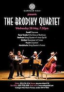 The Brodsky Quartet Poster for Cadogan Hall, Concert Hall, London