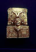 MEXICO, ZAPOTEC, OAXACA Monte Alban; gold pendant of god