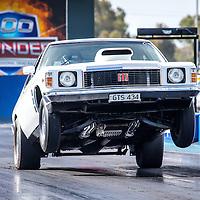 Mark Gschwendtner launching hard at #PerthMotorplex #Holden vs #Ford