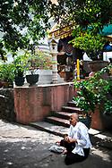 Nun in a temple