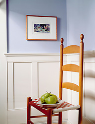 ladder back chair with Pears and wainscoting VA1_803_266. shot 10/29/1999 Invoice # 3251