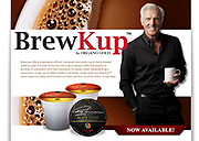 Greg Norman photographed for his Coffee Brand Organo Gold advertising campaign