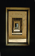 Corridor in the Khas Mahal (white marble palace), a pavilion of imperial apartments in Agra Fort next to the River Yamuna. Agra, India, 2002