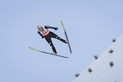 28.02.2021, Oberstdorf, GER, FIS Weltmeisterschaften Ski Nordisch, Oberstdorf 2021, Mixed Teambewerb, Skisprung HS106, im Bild Karl Geiger (GER) // Karl Geiger of Germany during the ski jumping HS106 mixed team competition of FIS Nordic Ski World Championships 2021 in Oberstdorf, Germany on 2021/02/28. EXPA Pictures © 2021, PhotoCredit: EXPA/ JFK