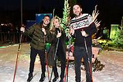 Presentatie Amsterdamse Winterparadijs dat van 21 tot en met 30 december plaatsvindt in evenementencomplex De Rai, Amsterdam.<br /> <br /> Op de foto:  Lil Kleine, Nicolette van Dam en Xander de Buisonjé