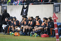 November 3, 2018 - Chicago, IL, U.S. - CHICAGO, IL - NOVEMBER 03: Maori All Blacks players watch from the bench  in action during the Rugby Weekend match between the New Zealand Maori All Blacks and the USA Eagles on November 3, 2018 at Soldier Field, in Chicago, Illinois.  (Photo by Robin Alam/Icon Sportswire) (Credit Image: © Robin Alam/Icon SMI via ZUMA Press)