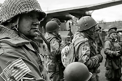 Members of the US 82nd Airborne/505th RCT living History Group Fort Paull <br /> <br />   03 May 2015<br />   Image © Paul David Drabble <br />   www.pauldaviddrabble.co.uk