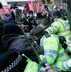 ©under license to London News Pictures. 10/11/2010 -  Students march on the streets of central London to fight against the looming, savage education cuts and increase of fees.