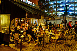 The Bar du Matin - late night street scene in the Place des Carmes, Toulouse, France<br /> <br /> (c) Andrew Wilson | Edinburgh Elite media