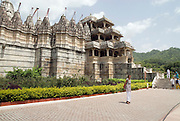 India, Rajasthan, Ranakpur main entrance to the Jain Temple built in the 14th century