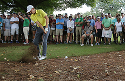 September 21, 2017 - Atlanta, GA, USA - Jordan Spieth hits from the woods to the 5th green in the opening round of the Tour Championship on Thursday, Sept. 21, 2017, at Eastlake Golf Club in Atlanta. (Credit Image: © Curtis Compton/TNS via ZUMA Wire)
