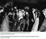 Lady Henrietta Bathurst at the Cinderella Ball. Dorchester Hotel. December 1980. film, 8073f37<br />© Copyright Photograph by Dafydd Jones. 66 Stockwell Park Rd. London SW9 0DA. Tel 0171 733 0108
