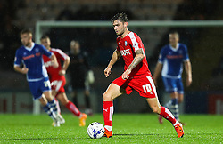 Jay O'Shea of Chesterfield in action  - Mandatory byline: Matt McNulty/JMP - 07966 386802 - 06/10/2015 - FOOTBALL - Spotland Stadium - Rochdale, England - Rochdale v Chesterfield - Johnstones Paint Trophy