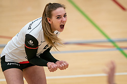 Emma Bredewoud of Apollo 8 celebrate during the first league match between Laudame Financials VCN vs. Apollo 8 on February 06, 2021 in Capelle aan de IJssel.