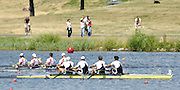 Poznan, POLAND, GBR M4- left to right Andy TRIGGS-HODGE, Peter REED, Steve WILLIAMS and Tom JAMES,  Final Men's four, at the 2008 FISA World Cup. Rowing Regatta. Malta Rowing Course on Sunday, 22/06/2008. [Mandatory Credit:  Peter SPURRIER / Intersport Images] Rowing Course:Malta Rowing Course, Poznan, POLAND