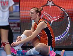 09-01-2016 TUR: European Olympic Qualification Tournament Rusland - Nederland, Ankara<br /> De Nederlandse volleybalsters hebben de finale van het olympisch kwalificatietoernooi tegen Rusland verloren. Oranje boog met 3-1 voor de Europees kampioen (25-21, 22-25, 25-19, 25-20) / Judith Pietersen #8