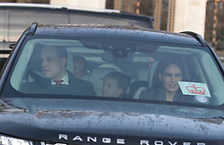 Lord Frederick Winsdor and Sophie Winkleman arrive for the Queen's Christmas lunch at Buckingham Palace, London.