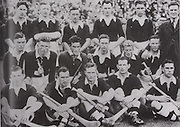Cork-All-Ireland Hurling Champions 1942. Back Row: J Buckley, J O'Donovan, C Tobin, J Lynch (capt), C Murphy, J Barry (Trainer),. Middle Row: E Porter, M Kenefick, W Murphy, S Condon, J Young, D J Buckley. Front Row: J Quirke, D Beckett, C Ring, B Thornhill, C Cottrell, Missing Alan Lotty.