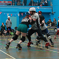 Deadcats take on Team Crazy Legs in the MRD Sevens Tournament at Salford University Sports Centre, 2018-03-04