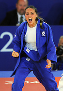 Commonwealth Games, Glasgow 2014<br /> SECC Judo<br /> Women's -48kg Final<br /> Kimberley Renicks of Scotland v Shushila Likmabam of India.<br /> Kimberley Renicks wins Scotland's 1st Gold medal in the Judo.<br /> <br />  Neil Hanna Photography<br /> www.neilhannaphotography.co.uk<br /> 07702 246823