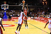 Omogbo Manuel<br /> Grissin Bon Pallacanestro Reggio Emilia - VL Pesaro<br /> Lega Basket Serie A 2017/2018<br /> Reggio Emilia, 08/10/2017<br /> Foto A.Giberti / Ciamillo - Castoria