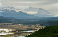 Wilmore Wilderness - View to river valley near Rock Lake, Alberta, Canada   Photo: Peter Llewellyn