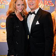 NLD/Amsterdam/20111010 - Premiere All Stars 2, Liza Sips en partner Joel Davans