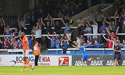 Jon Taylor of Peterborough United celebrates scoring his hat-trick goal in front of jubilant Peterborough fans- Mandatory by-line: Joe Dent/JMP - 08/05/2016 - FOOTBALL - ABAX Stadium - Peterborough, England - Peterborough United v Blackpool - Sky Bet League One