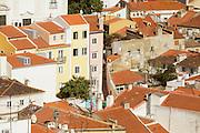 Alfama seen from Portas do Sol lookout in Lisbon.