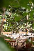 Dining table at the Lekoli Fly Camp, Lekoli River.