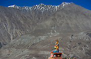 Giant Buddha statue at Diskit Monastery, in the Nubra Valley.