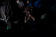 A  boy grieves over the death of his father who was brutally murdered by the LRA.