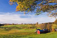 Jenne Farm in autumn Vermont USA