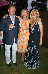 Left to right, NICK JONES, KIRSTY YOUNG and JENNY HALPERN at the Serpentine Gallery Summer party sponsored by Yves Saint Laurent held at the Serpentine Gallery, Kensington Gardens, London W2 on 11th July 2006.<br /><br />NON EXCLUSIVE - WORLD RIGHTS