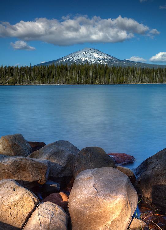 Mt. Bachelor from Elk Lake