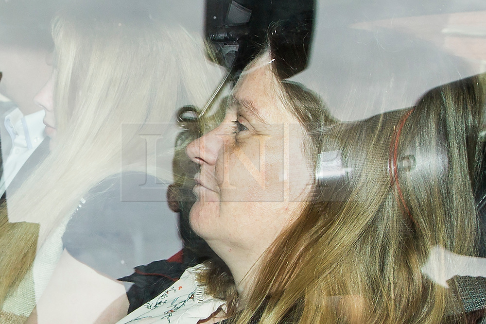 © Licensed to London News Pictures. 03/07/2017. Leeds UK. Alison Rough mother of murdered Katie Rough arrives at Leeds Crown Court. The teenager accused of murdering Katie Rough goes on Trial this morning at Leeds Crown Court. 7 year old Katie was found in a field near her home in York with severe lacerations to her neck & chest on January the 9th. Photo credit: Andrew McCaren/LNP