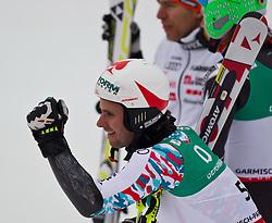 18.02.2011, Kandahar, Garmisch Partenkirchen, GER, FIS Alpin Ski WM 2011, GAP, Herren, Riesenslalom, im Bild bronze Medaille Philipp Schoerghofer (AUT) // bronze Medal Philipp Schoerghofer (AUT) during men's Giant Slalom Fis Alpine Ski World Championships in Garmisch Partenkirchen, Germany on 18/2/2011. EXPA Pictures © 2011, PhotoCredit: EXPA/ J. Groder