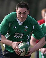 Gareth Delve of Wales. Wales rugby team training at the Vale of Glamorgan, South Wales ahead of their six nations match in Ireland. on Thurs 11th March 2010. pic by Andrew Orchard, Andrew Orchard sports photography,
