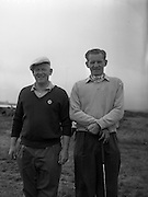23/06/1959<br /> 06/23/1959<br /> 23 June 1959 <br /> Irish Amateur Close Golf Championships at Portmarnock, Dublin. Third round players, G.F. Crosbie (Cork, left) and his opponent W.E. McCrea (Porters Park) at the 10th tee.