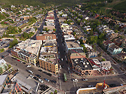 SHOT 7/1/17 6:58:32 PM - Drone photos of Park City, Utah. Park City lies east of Salt Lake City in the western state of Utah. Framed by the craggy Wasatch Range, it's bordered by the Deer Valley Resort and the huge Park City Mountain Resort, both known for their ski slopes. Utah Olympic Park, to the north, hosted the 2002 Winter Olympics and is now predominantly a training facility. In town, Main Street is lined with buildings built during a 19th-century silver mining boom. (Photo by Marc Piscotty / © 2017)