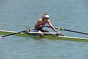 Seville. Andalusia. SPAIN.   NED W1X, Inge JANSSEN Bronze  medalist  2013 FISA European Rowing Championship.  Guadalquivir River.  Sunday  02/06/2013.  [Mandatory Credit. Peter Spurrier/Intersport]