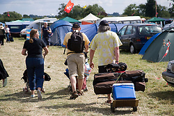 People walking towards their tents at the Cropredy Festival  Fairport's Cropredy Convention  2005