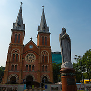 Notre-Dame de Saigon cathedral and statue, Ho Chi Minh