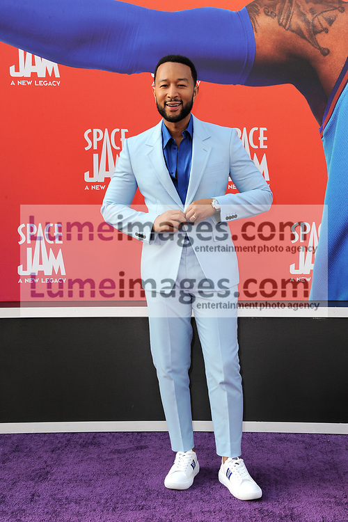 John Legend at the Los Angeles premiere of 'Space Jam: A New Legacy' held at the Regal LA Live in Los Angeles on July 12, 2021.
