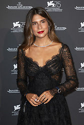 Belen Hostalet attends the Jaeger Le-Coultre Gala night held at Arsenale Docks during the 75th Venice Film Festival at Sala Grande on September 4, 2018 in Venice, Italy. Photo by Marco Piovanotto/ABACAPRESS.COM