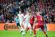 01.09.2017. Copenhagen, Denmark. <br /> Robert Lewandowski (9) during the FIFA 2018 World Cup Qualifier between Denmark and Poland at Parken Stadion.<br /> Photo: © Ricardo Ramirez.