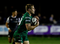 Kyle Godwin of Connacht<br /> <br /> Photographer Simon King/Replay Images<br /> <br /> Guinness PRO14 Round 7 - Ospreys v Connacht - Friday 26th October 2018 - The Brewery Field - Bridgend<br /> <br /> World Copyright © Replay Images . All rights reserved. info@replayimages.co.uk - http://replayimages.co.uk