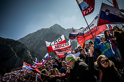 Supporters during Ski Flying Hill Men's Team Competition at Day 3 of FIS Ski Jumping World Cup Final 2017, on March 25, 2017 in Planica, Slovenia. Photo by Vid Ponikvar / Sportida