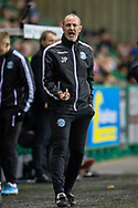 Hibernian assistant manager, John Potter shouts at the players during the William Hill Scottish Cup fourth round match between Hibernian FC and Dundee United FC at Easter Road Stadium, Edinburgh, Scotland on 28 January 2020.